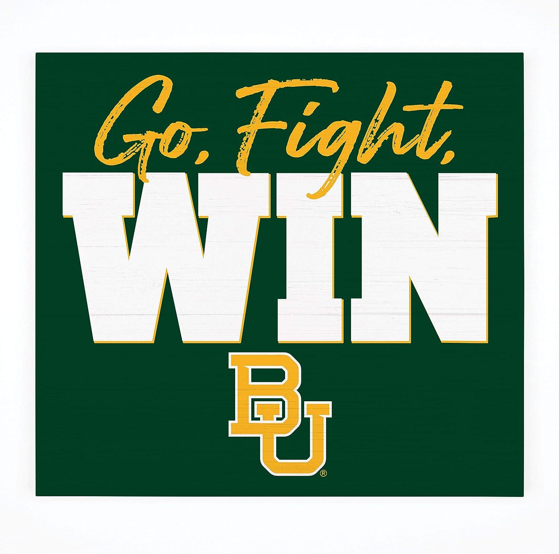 P. Graham Dunn Go Fight Win Baylor University NCAA Logo 10.5 x 10 Birch Wood Pallet Sign