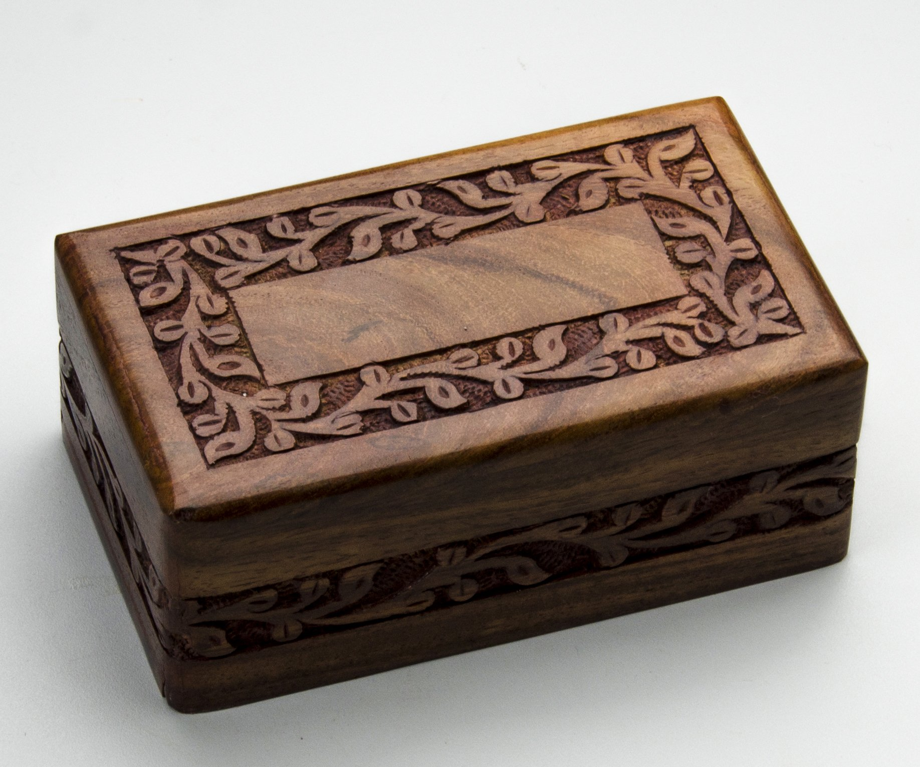 STAR INDIA CRAFT Beautifully Handmade & Handcrafted Borders Engraving Wooden Urns for Human Ashes Adult by Wooden Cremation Urns for Ashes Engraving, Wooden Box (Traditional, Medium - 78 Cu/In)