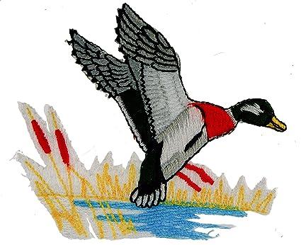 Amazon Com Mallard Duck Flying Applique Iron Sew On Patch Ppm