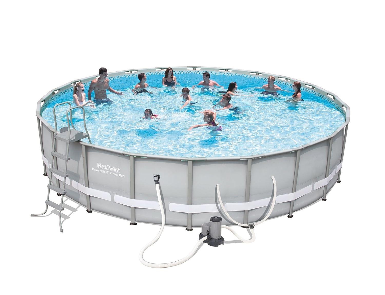 Amazon.com : Power Steel Frame Pool Set, 22\' x 52\
