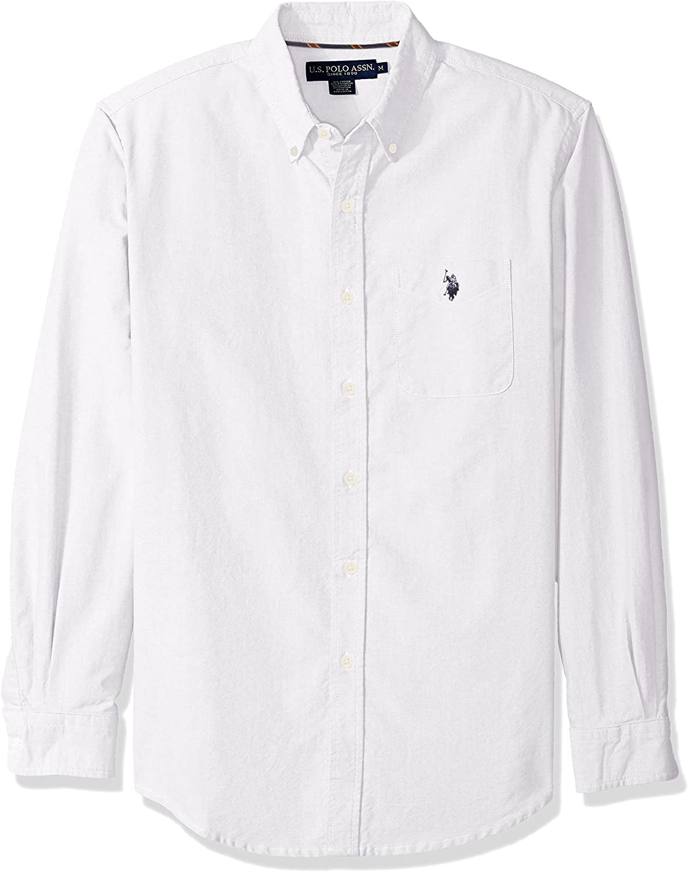 U.S Polo Assn Men/'s Long Sleeve Slim Fit Button Down Sport Shirt,