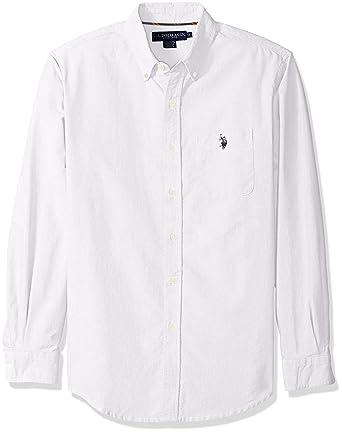 52b976051274 U.S. Polo Assn. Men's Long Sleeve Classic Fit Solid Oxford Cloth Button Down  Sport Shirt