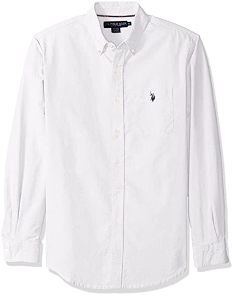 U.S. Polo Assn. Men's Classic Fit Solid Oxford Cloth Button Down Sport Shirt  at Amazon Men's Clothing store: