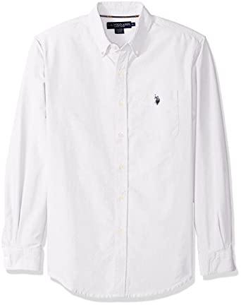 U.S. Polo Assn. Men's Classic Fit Solid Oxford Cloth Button Down ...