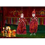 Jaipuri haat Cotton Handicraft Ethnic Handmade Male and Female Kathputli Puppets (Medium, Multicolour) - Pack of 2