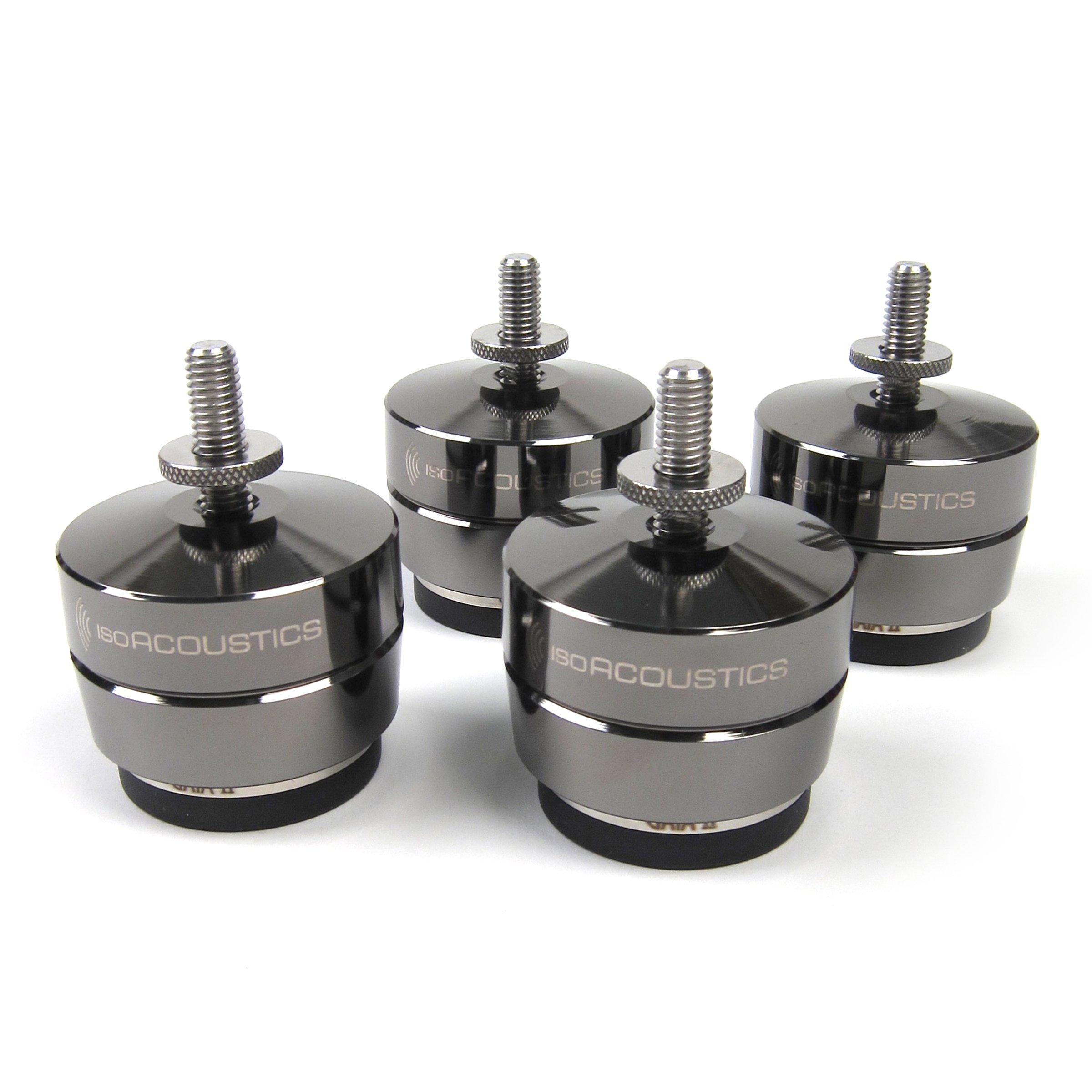IsoAcoustics: GAIA II Speaker Feet - Dark Chrome (4 Pack)