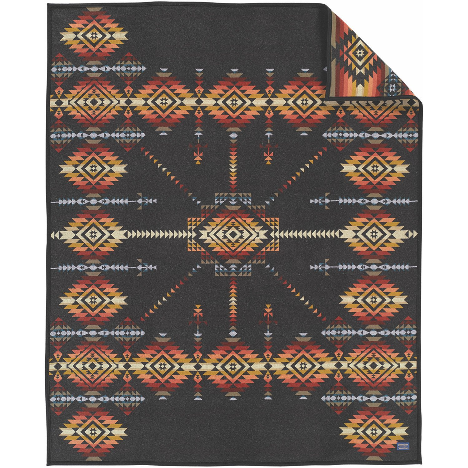 Pendleton Heritage Collection Robe Blanket One Size Dark Charcoal by Pendleton (Image #1)