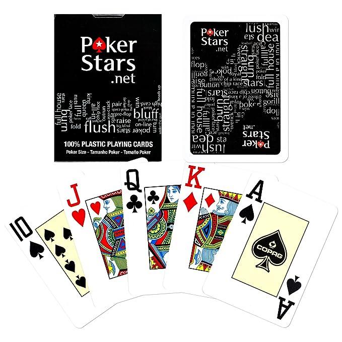 Amazon.com: Copag Poker estrellas Índice de Jumbo – Juego de ...