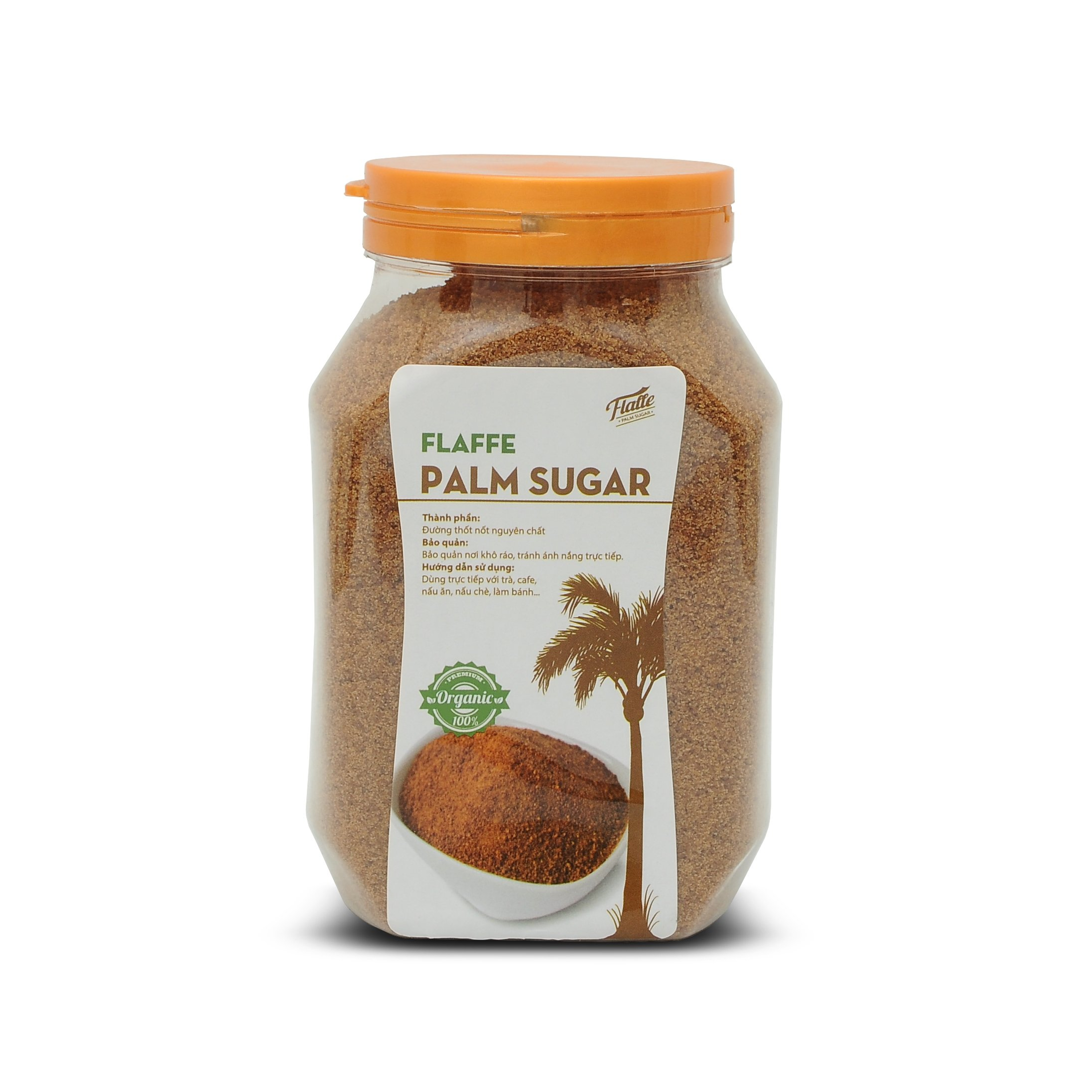 Flaffe Organic Natural Brown Palm Sugar Vegan Natural Sweetener Vietnam 300g
