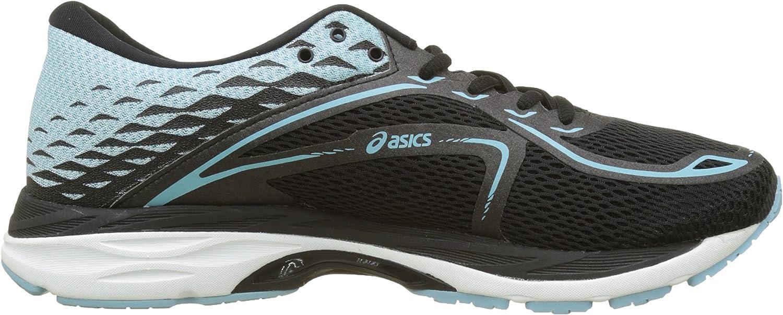 Asics Gel-cumulus 19, Chaussures De Running Femme Noir Black Porcelain Blue White 9014