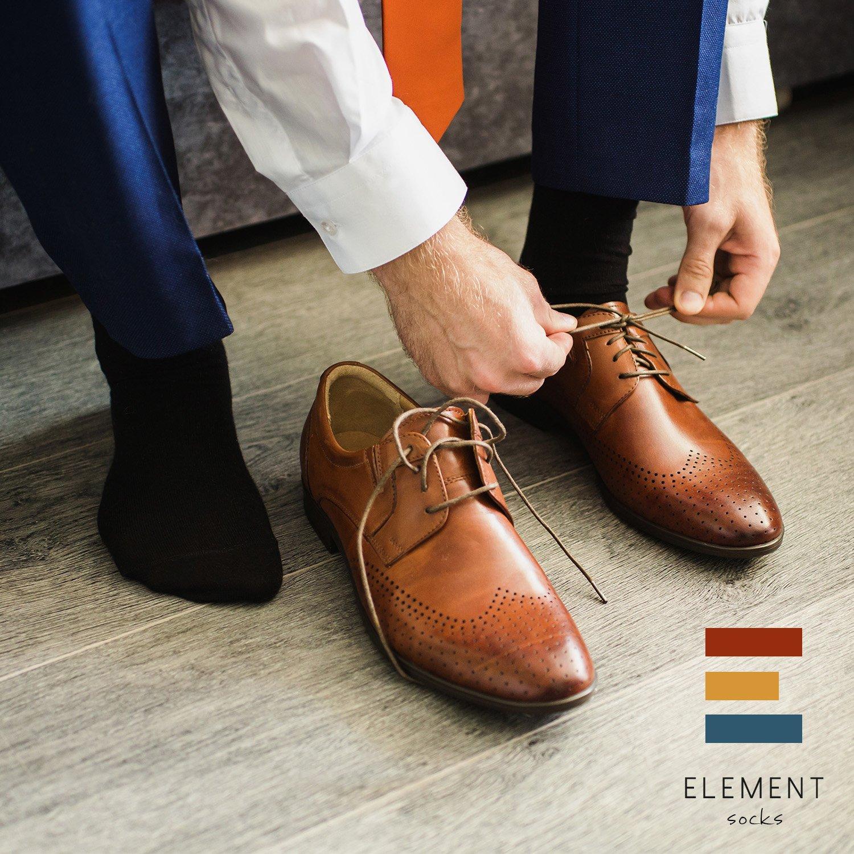 Element Next Generation Bamboo Fiber Dress Socks for Men Pack of 3 Black