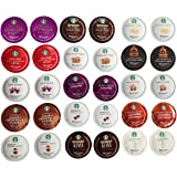 Coffee and Tea Verismo Pod Variety Sampler Pack for Starbucks Verismo Machines, 30 Count. Includes 'The Curated Pantry' Gift Tag