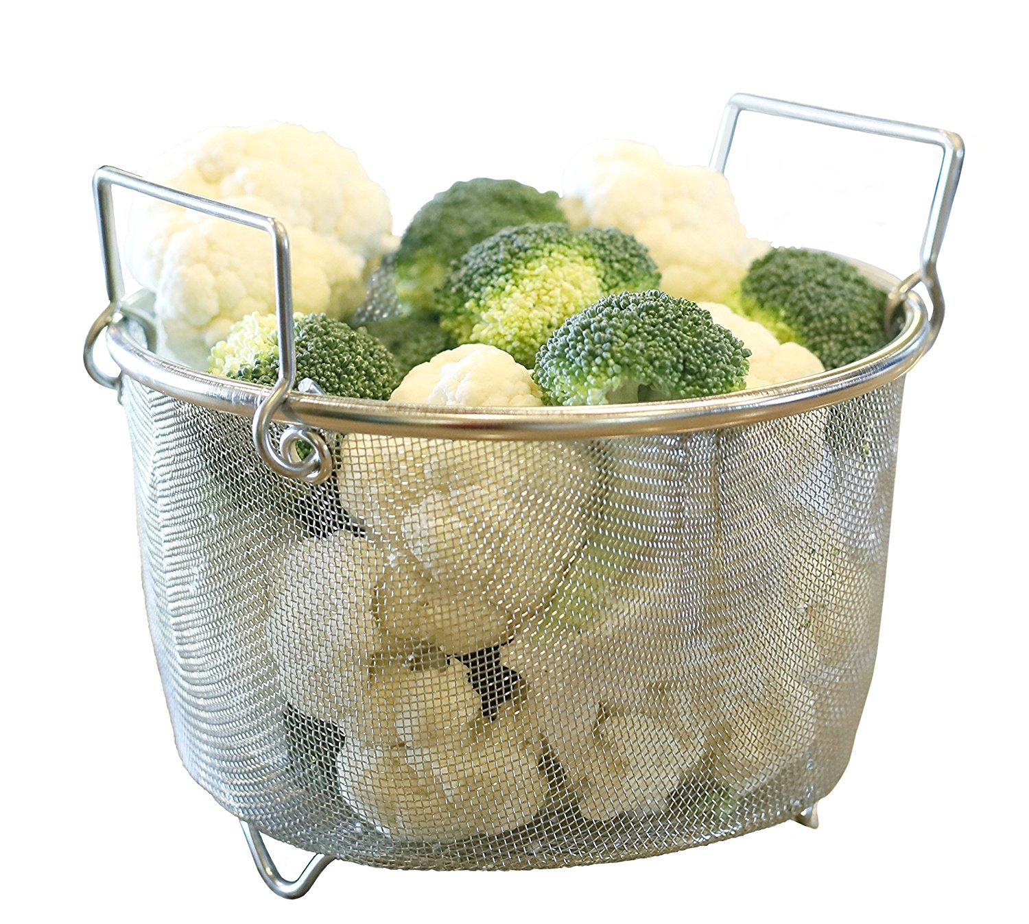 Instant Perrrt! | Premium Steamer Basket | Perfectly Prepares Vegetables, Eggs, Meats & More | Instant Pot Pressure Cooker Accessory | Stainless Steel & Dishwasher Safe | 8 Quart