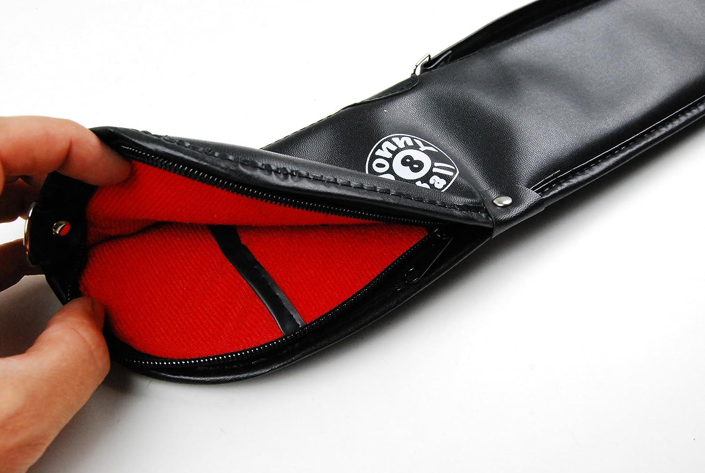 106,7 cm und 121,9 cm gro/ße Billardqueue Jonny 8 Ball MEDIUM Size Case for Short 42 /& 48 2pc Snooker Pool Cue Soft Queue-Koffer f/ür Kurze