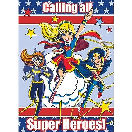 DC Super Hero Girls Invitations