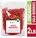 Healthworks Raw Goji Berries (32 Ounces / 2 Pound) | Certified Organic & Sun-Dried | Keto, Vegan & Non-GMO | Baking, Teas & Smoothies | Antioxidant Superfood