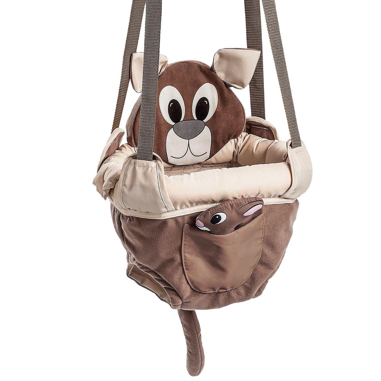 Evenflo ExerSaucer Baby Doorway Jumper, Brown - Joey Jump Up Evenflô