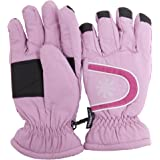 Kids/Childrens Thinsulate Extra Warm Thermal Padded Ski Gloves With Palm Grip (3M 40g)