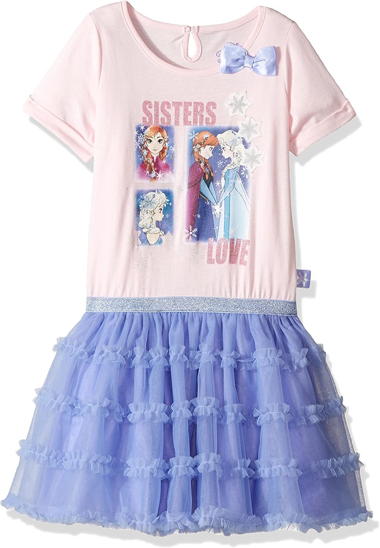 Frozen Anna and Elsa Tutu Dress Top Short Sleeve