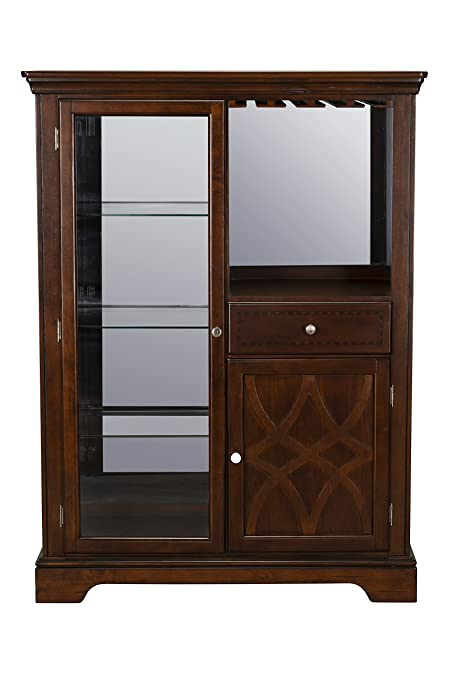 Amazon Standard Furniture Woodmont Curio Cabinet Brown Cherry