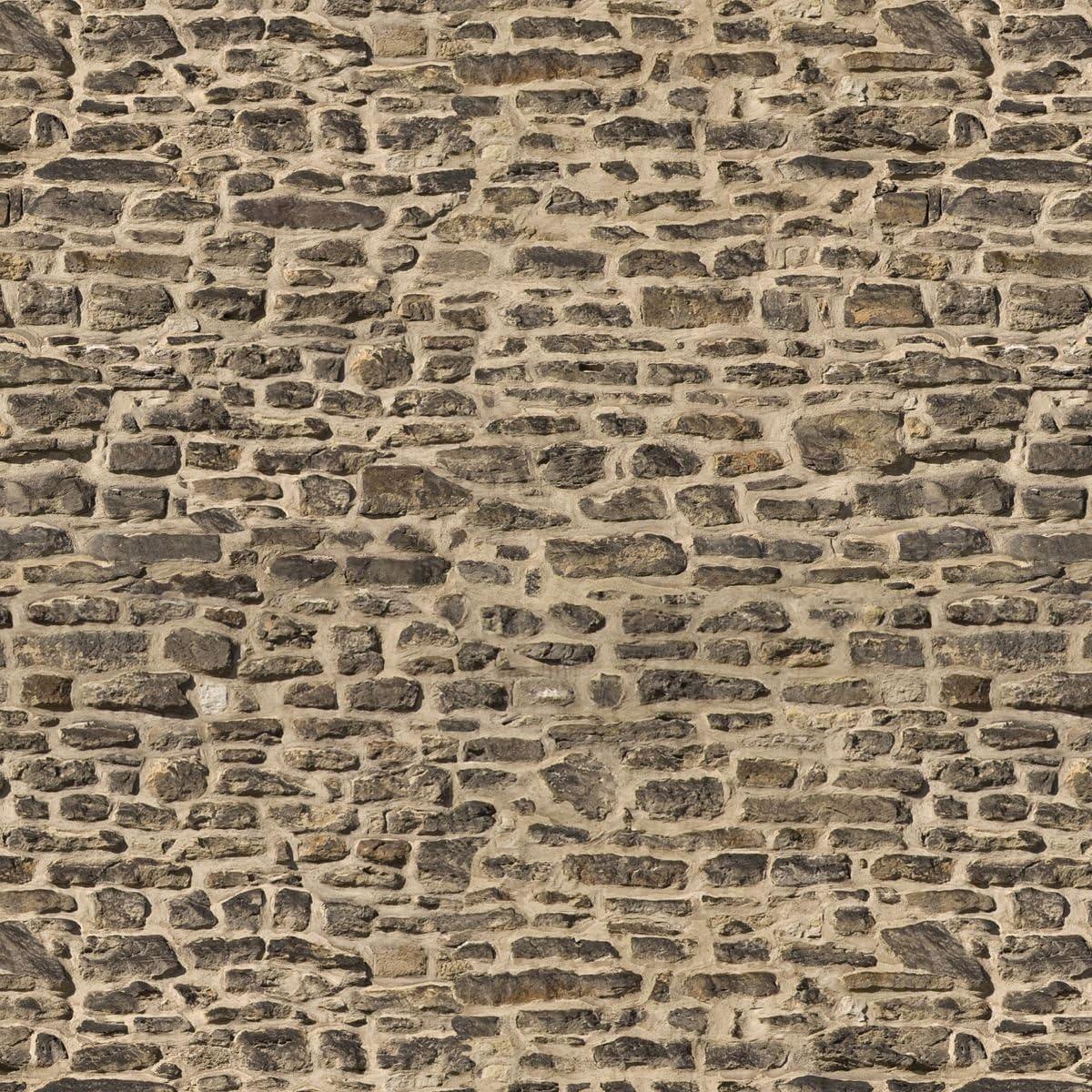 Confezione di 5 casa delle bambole piccole Scuro muro di pietra fogli di carta
