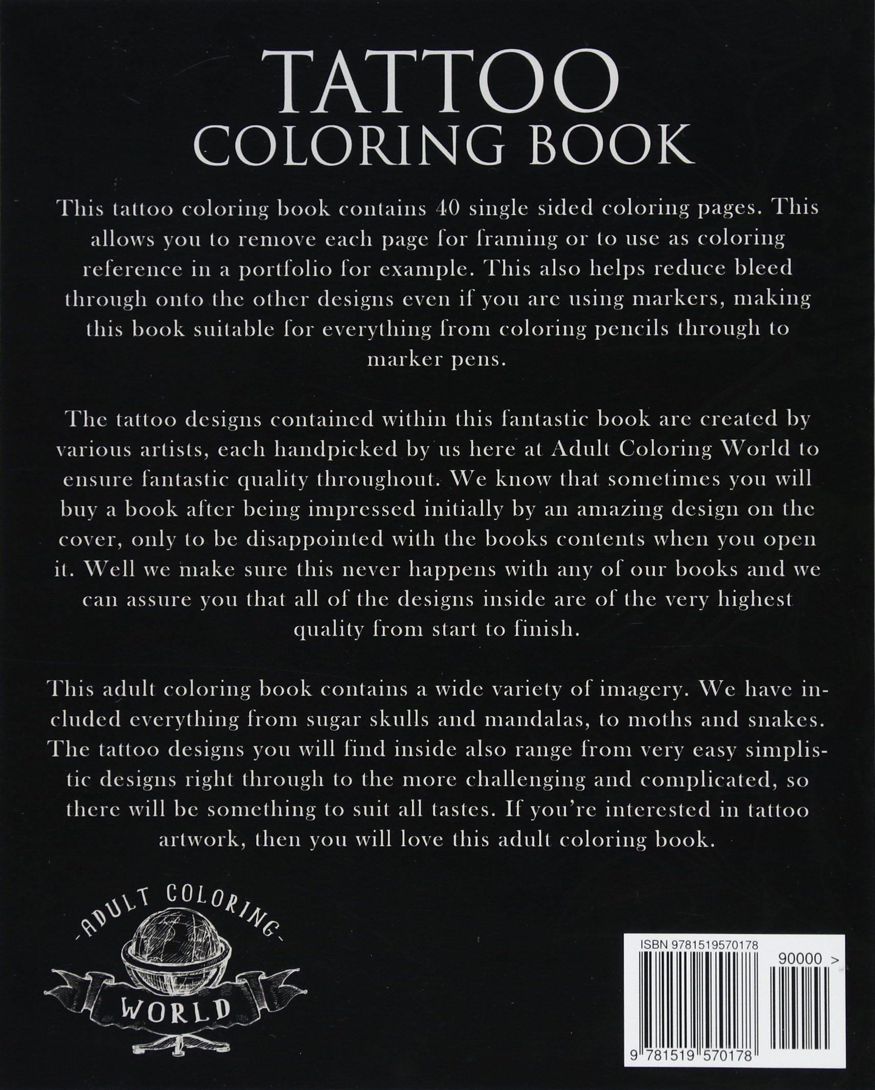 Tattoo Coloring Book For Adults 40 Modern And Neo Traditional