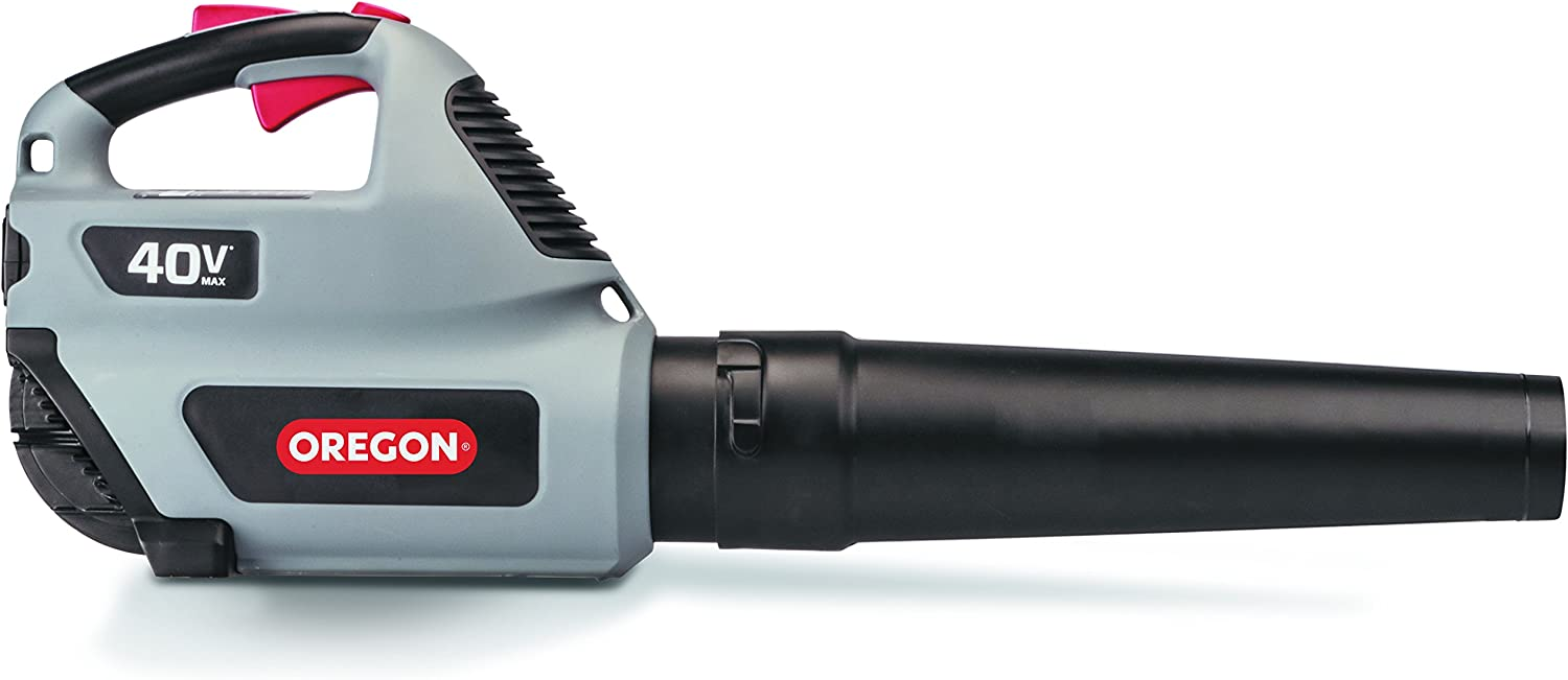 Oregon Cordless BL300 40V 151 MPH Leaf Blower with 4.0Ah Battery and Charger