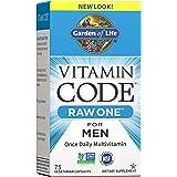 Garden of Life Multivitamin for Men, Vitamin Code Raw One for Men - 75 Capsules, Once Daily Mens Vitamins plus Fruit, Veggies