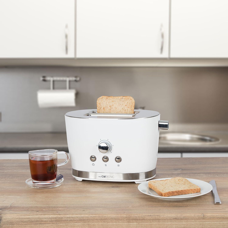 Clatronic TA3690 - Tostadora de pan, 2 ranuras, 3 funciones ...