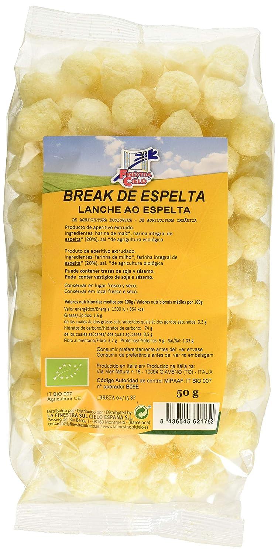 La Finestra Sul Cielo Snack Ligero y Crujiente Hecho con Espelta - Paquete de 12 x 50 gr - Total: 600 gr: Amazon.es: Alimentación y bebidas
