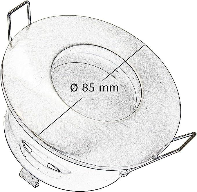 Spot LED lumi/ère color/ée douche 3 W bain turc chromoth/érapie IP65 GU10 RGB 230 V Silver Spazzolato