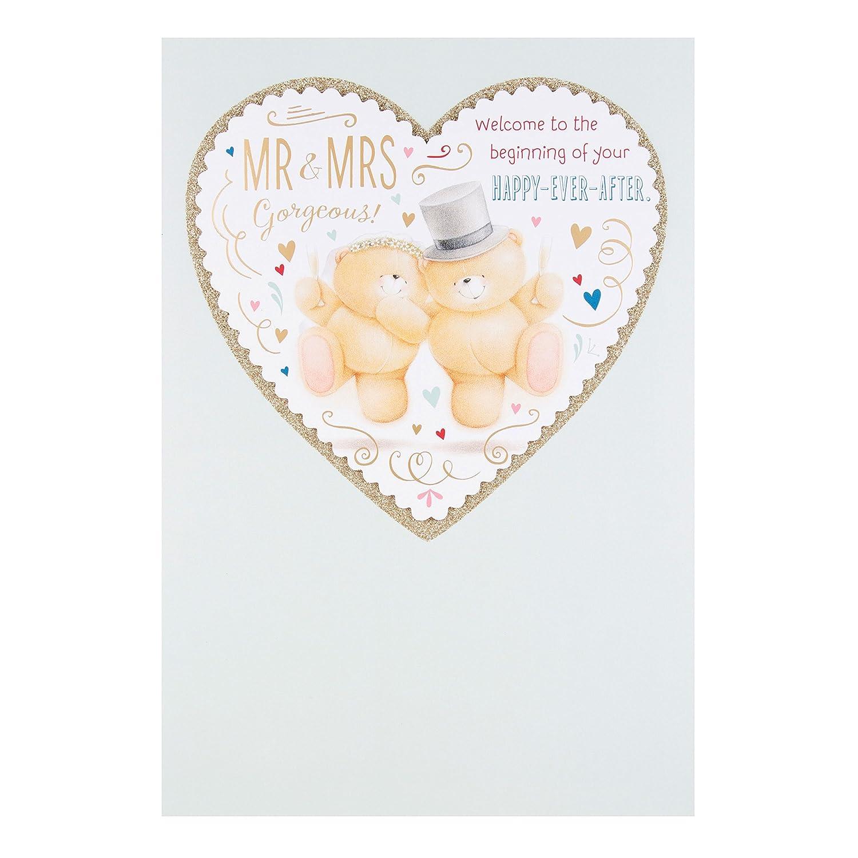 Hallmark Forever Friends Wedding Card Mr and Mrs Medium