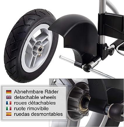 Andersen Carro de Compra Royal Aluminio Plegable con Ruedas neumatic/ás /Ø 25cm y 51 litros Bolsa Rul Negro