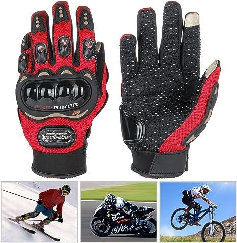 estivi 1/paio di guanti da moto protettivi per mountain bike a dita intere da equitazione