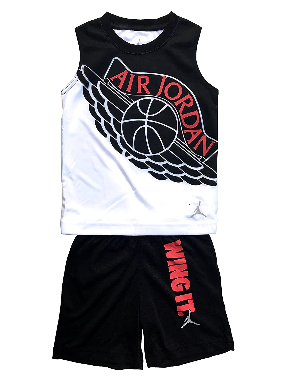 Jordan Nike Air Jumpman Boys 2-Piece Top and Shorts Outfit Set