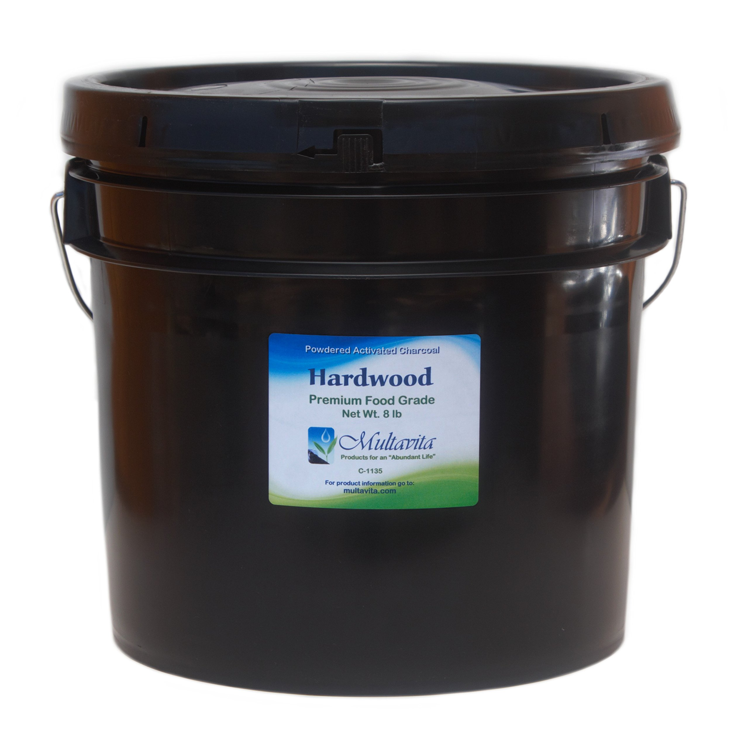 8 lb Hardwood Activated Charcoal Powder Premium Food Grade USA in Pail
