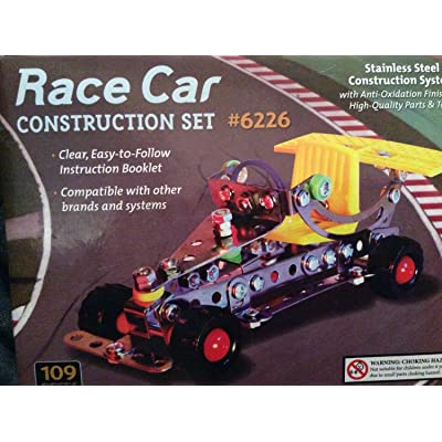 Race Car Stainless Steel Construction Set - 108 pieces: Toys & Games