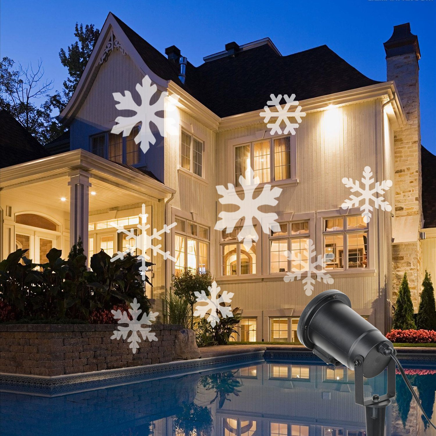 christmas lights hi decorations lighting lighted unifun boxes elegant remote of with amazon contol gift projection outdoor holiday