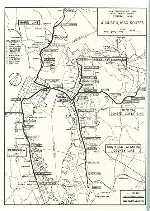 Amazon Com Gifts Delight Laminated 24x33 Poster San Francisco Bay Area Rapid Transit District General Map August 11 1960 Routes Posters Prints Most relevant best selling latest uploads. san francisco bay area rapid transit