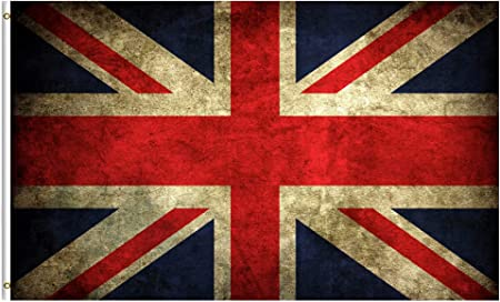ShineSnow Vintage Union Jack British UK Flag 3x5 Feet Flag, Polyester Great Britian England United Kingdom National Flag Double Stitched with Brass Grommets 3 X 5 Ft Flag for Outdoor Indoor Decor