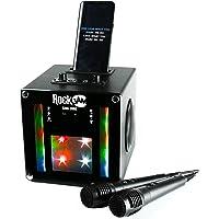 RockJam RJSC01-BK Singcube Bluetooth Karaoke Machine With Two Microphones