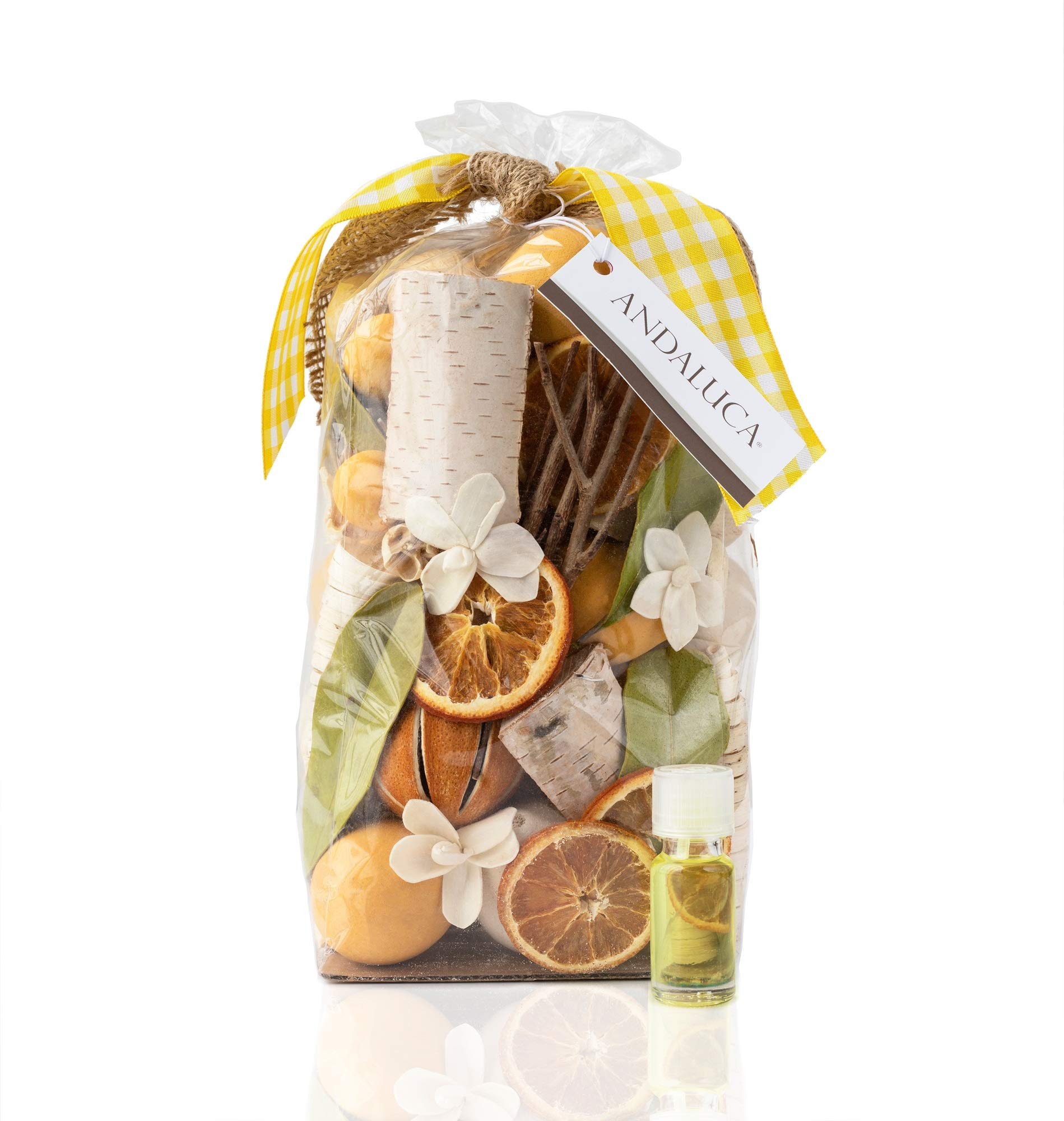 Andaluca Lemon Zest & Thyme Scented Potpourri | Made in California | Large 20 oz Bag + Fragrance Vial by Andaluca (Image #1)