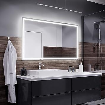 Alasta Miroir Atlanta Éclairage Salle de Bain Miroir Lumineux | Miroir  Mural LED Illumination | Choisir la Taille (Blanc Chaud, Largeur 90cm X  Hauteur ...