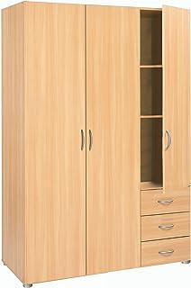 Kleiderschrank 2 Türen buche beige Schrank Drehtürenschrank ... | {Kinderzimmer buche 61}