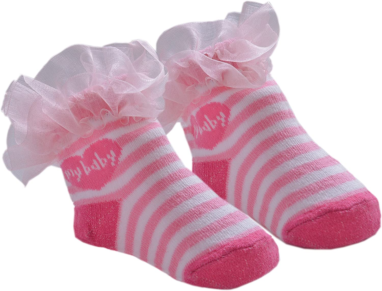 DinDonオリジナル ベビー靴下 TF マイベビー 0-12ヶ月 ピンク #5115