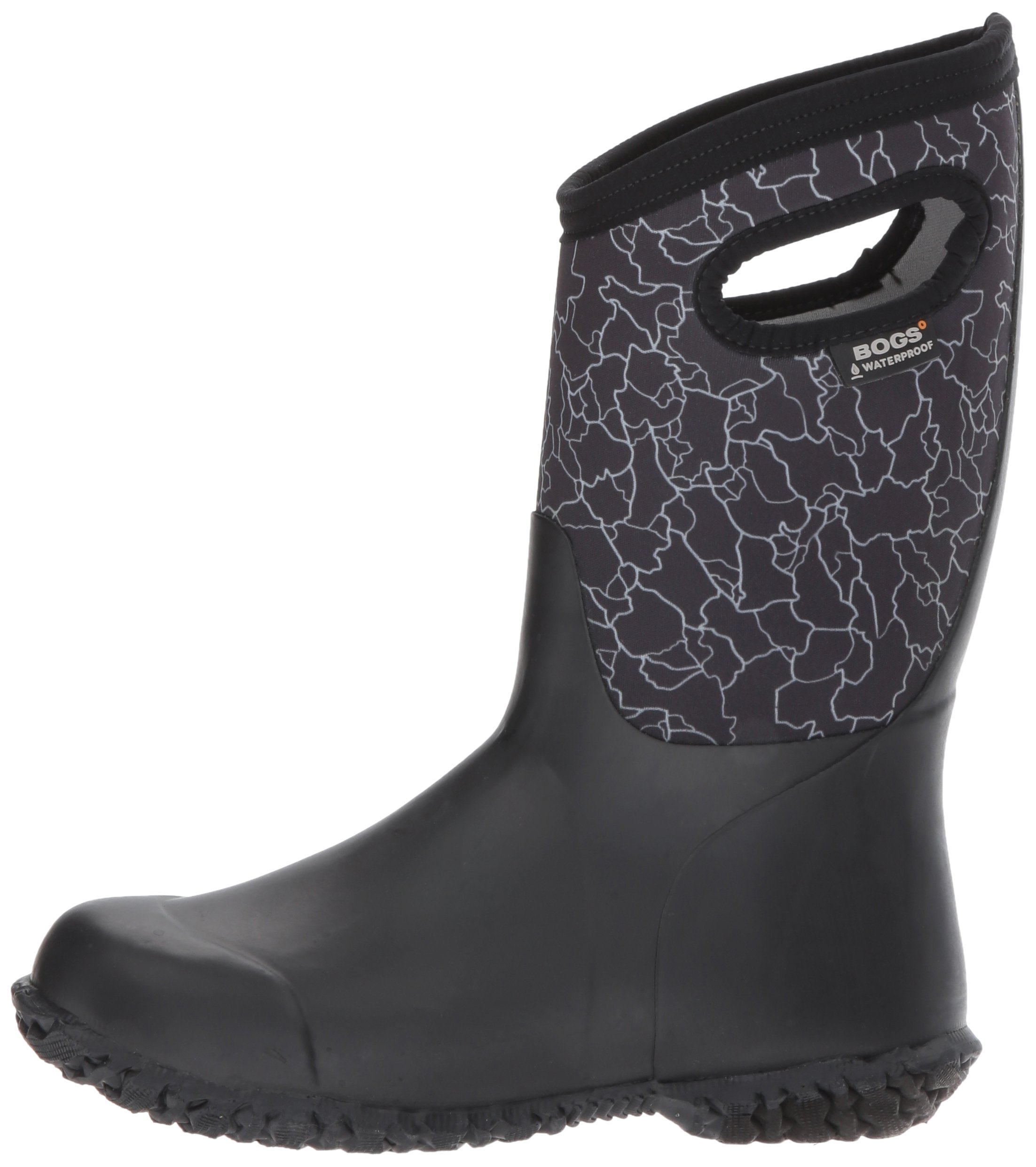 Bogs Durham Kids/Toddler Waterproof Snow Boot for Boys and Girls, Crackle Print/Black/Multi, 12 M US Little Kid by Bogs (Image #5)