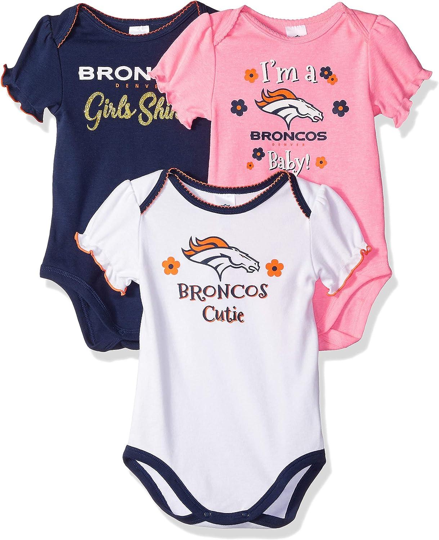 NFL Houston Texans Baby-Boy 3 Pack Short Sleeve Variety Bodysuit 6-12 Months Team Color