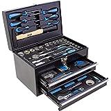 Karcher Caja de herramientas–117Juego de herramientas Set de & Cromo Vanadio Acero al carbono con martillo, destornillador, llave, puntas, etc.