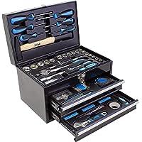 Karcher Verktygslåda 117-delad verktygssats för hem och garage inklusive hammar- och skruvmejselset