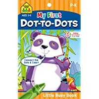 School Zone - My First Dot-to-Dots Workbook - Ages 3 to 6 - Preschool to Kindergarten, Activity Pad, Connect the Dots…